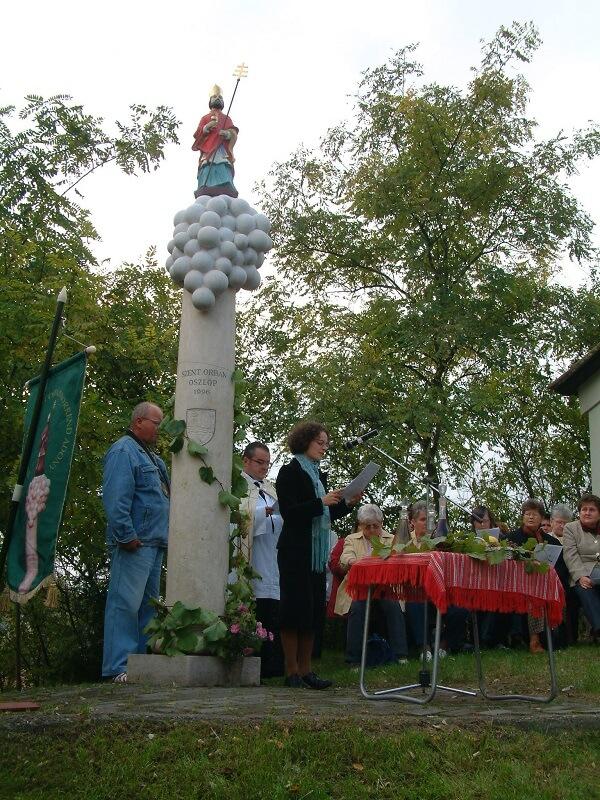 Szent Orbán szobor az Adony Szőlőhegyen
