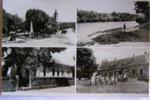 A Rezutsek-kúria - óvoda - egy régi képeslap két alsó fotóján