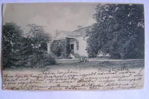 A Telenszky-villa fotója egy régi képeslapon megörökítve